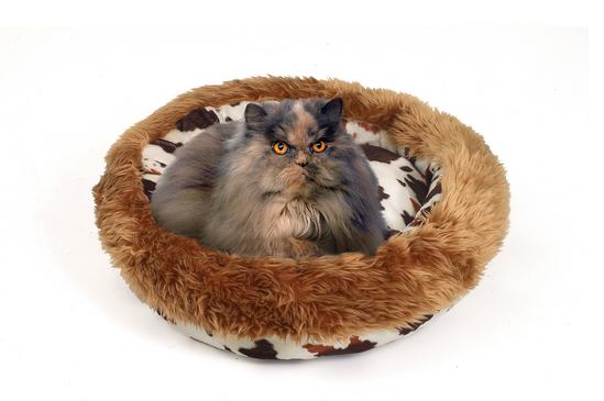 Cattle Plush Cat Bed - 55x50x20cm